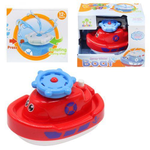 Игрушка Кораблик для ванной, с фонтанчиком, красный SL87002
