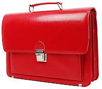 Деловой женский портфель из эко кожи AMO SST09 красный