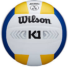 Мяч волейбольный Wilson K1 Silver BLU WH YE SS19 9780, КОД: 1717685