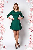 Стильное новогоднее платье зеленого цвета