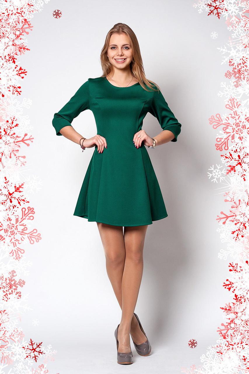 Стильное новогоднее платье зеленого цвета  продажа 631261315f1ca