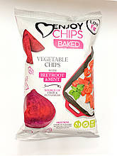 Запечені картопляні чипси з червоним буряком та м'ятою ТМ Sergio 40г