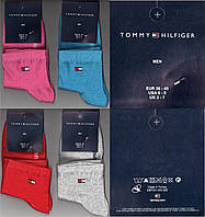 Носки женские демисезонные Tommy Hilfiger Турция 36-40р. цветное ассорти НЖД-200