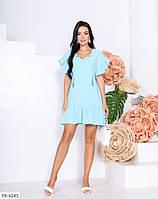 Сукня жіноча легке коротке літо вільного крою А-силуету р-ри 42-48 арт. 680