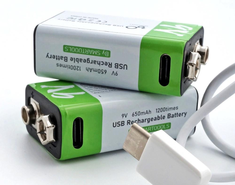 Батарейка акумулятор Крона 650 маг 9V Type-C