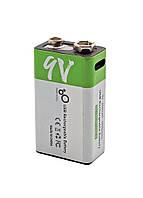 Батарея (акумулятор) Крона 6F22 9V (CR-9V) micro USB Type-C 650 мАч Li-ion Smartoools, фото 1