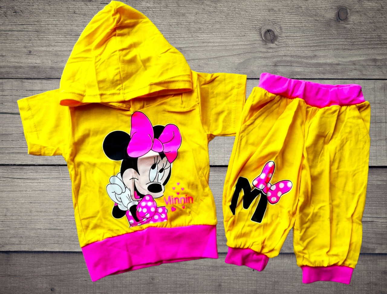 Дитячий літній костюм з капюшоном Мінні для дівчинки