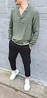 Льняные стильные брюки