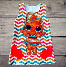 Детское платье ЛОЛ для девочки двунить