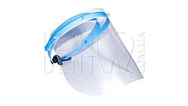 Маска - экран для защиты лица со сменными щитками (10 шт) синяя