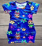 Детская туника-платье ЛОЛ для девочки с боковыми карманчиками размеры 28 и 30, фото 2