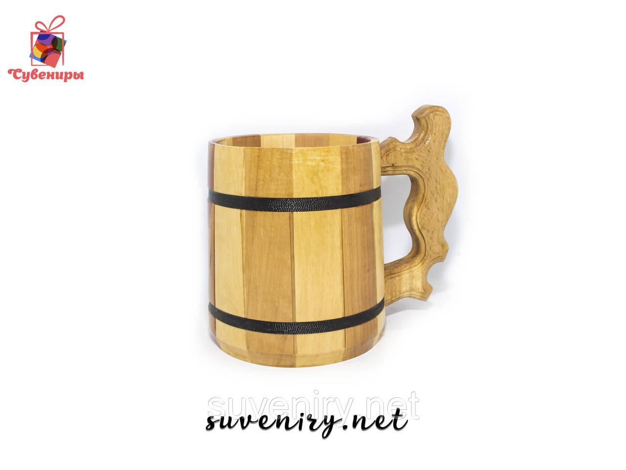 Деревянный пивной бокал для пива