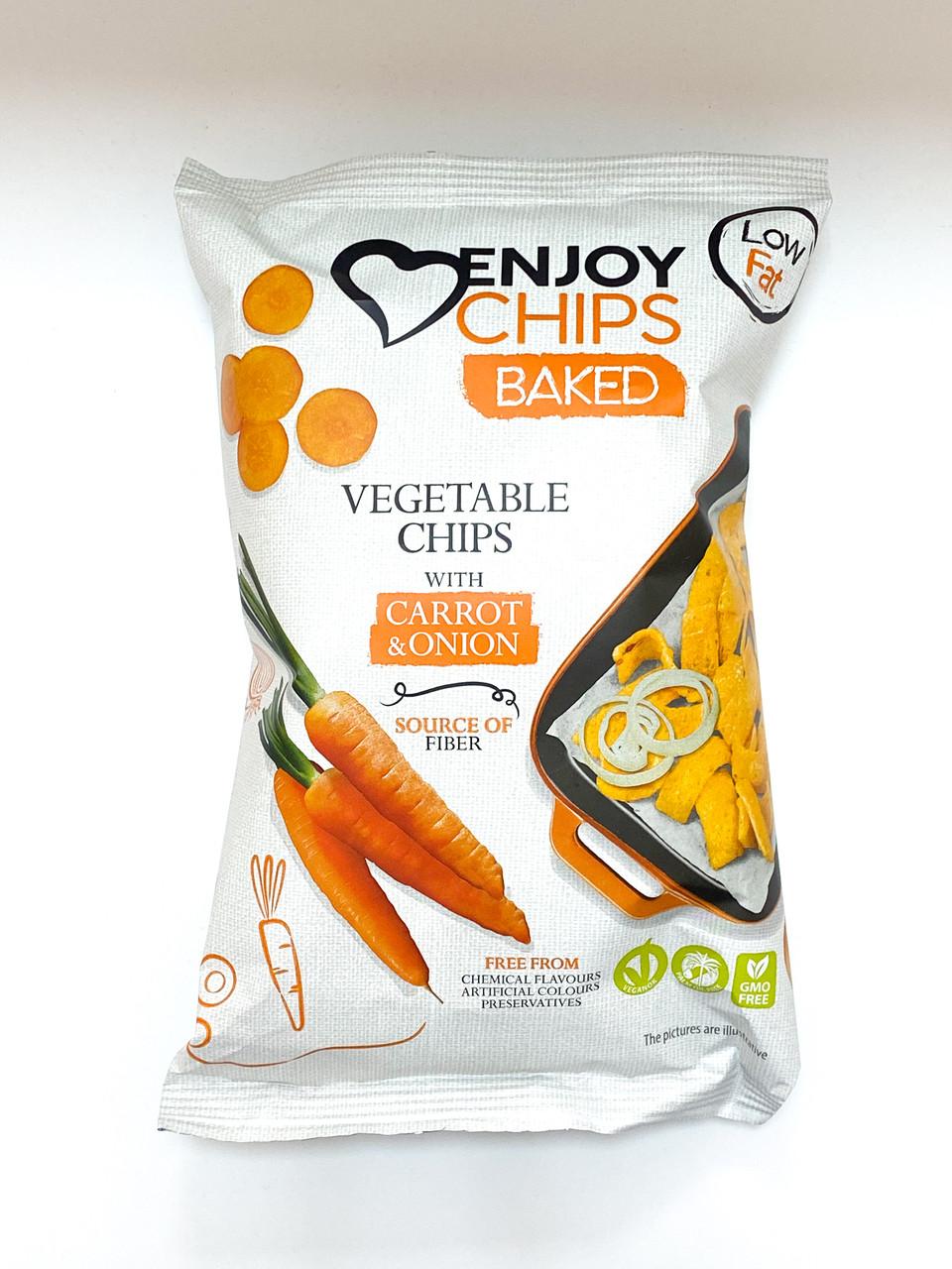 Запечені картопляні чипси з морквою та цибулею ТМ Sergio 40г