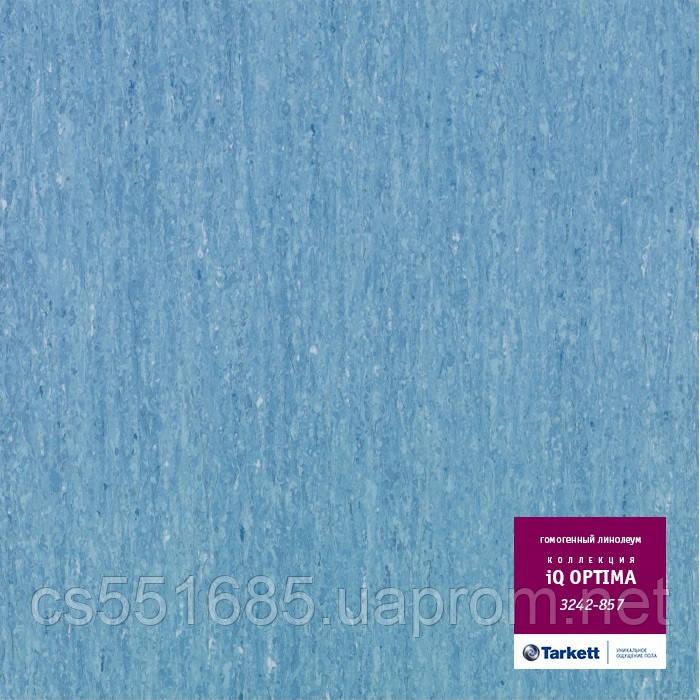 3242 857 - коммерческий линолеум гомогенный 34 класс, коллекция линолеум IQ Optima (Оптима) Tarkett (Таркетт)
