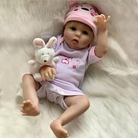 Силиконовая коллекционная кукла Reborn Doll Девочка Мила 55 см 212, КОД: 2418594
