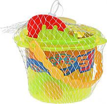 Набор для игры с песком Same Toy Ведерко Зеленое 986Ut-2, КОД: 2433503