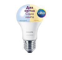 Лампа светодиодная LED Scene Switch 9.5 - 60W E27 3000K / 6500K 230V (PF) PHILIPS