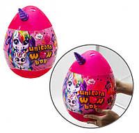 """Набір для творчості в яйці """"Unicorn WOW Box"""" UWB-01-01U для дівчаток (Рожевий)"""