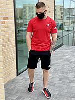Мужской комплект футболка и шорты Nike красный