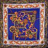 Стильный женский атласный платок размером 102*98 см ETERNO (ЭТЕРНО) ES0406-3-18