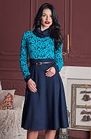 Женское нарядное платье с чуть завышенной талией, фото 1