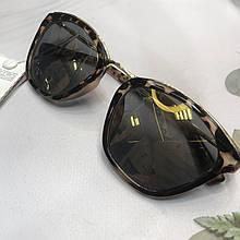 Стильные солнцезащитные очки, очки леопард