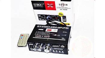 Автомобільний підсилювач звуку 699D 2-х канальний 2*120 ват usb/sd/bt караоке FM