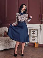 Молодежное платье по колено с пышной юбкой, фото 1