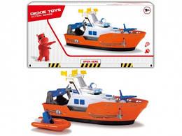 Дитячий катер іграшка Рятувальник з човном, світло, звук, 40 см, DICKIE TOYS
