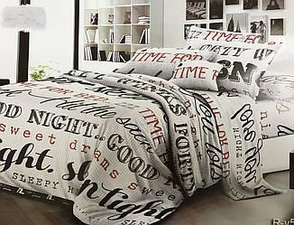 Комплект постельного белья с надписями в размерах из ранфорса
