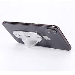Держатель для телефона Momostick Transparent серебристый, лучше чем Попсокет и Кольцо!