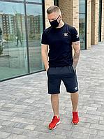 Мужской комплект футболка и шорты Adidas темно-синий