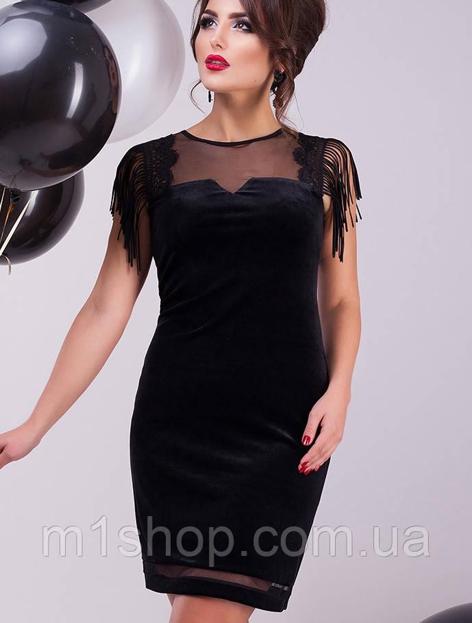 Бархатное платье | Карите lzn