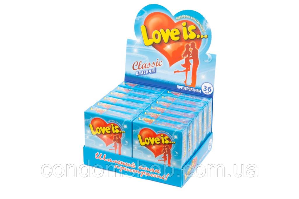 Презервативи ексклюзив Love is(Лав з)36 шт. Великобританія.ВАНІЛЬ.