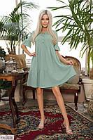 Ошатне коротка сукня вільного крою з гіпюрової обробкою на гудзиках р-ри 42-48 арт. 394