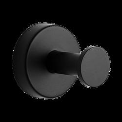 Гачок для рушника та халату SLZD 03N, Sanela (Чехія), нержавіюча сталь з чорним покриттям