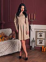 Элегантное платье со складками на талии