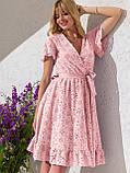 Літнє плаття з прошвы з гумкою по талії, фото 9