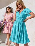 Літнє плаття з прошвы з гумкою по талії, фото 8
