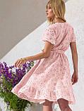 Літнє плаття з прошвы з гумкою по талії, фото 10
