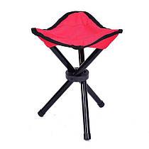 Складной карманный стул тренога (Красный)