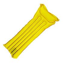 Надувной одноместный матрас пляжный (Желтый)