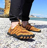Рыжие аквашузы мужские и женские коралки акваобувь шлепки для моря аква обувь слипоны мокасины оранжевые