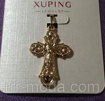 30. Позолоченные кулоны крестики Xuping. Ладанки мед золото оптом.