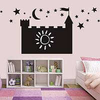 Меловая наклейка Дворец виниловый замок грифельные наклейки для рисования мелом на стену 500х440 мм