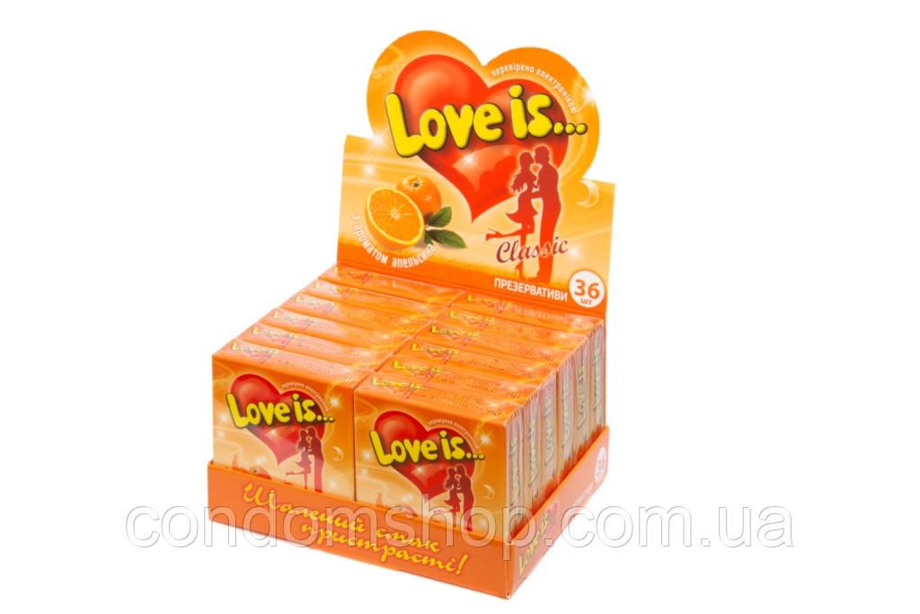 Презервативы эксклюзив Love is(Лав из)36 шт.Великобритания.АПЕЛЬСИН.