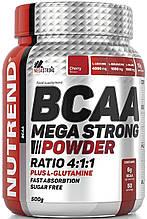 Амінокислота Nutrend BCAA Mega Strong Powder 500 г вишня
