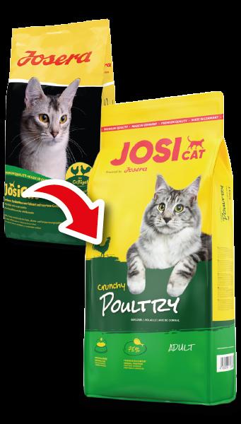 Сухой корм Josera JosiCat Crunchy Poultry с мясом домашней птицы для взрослых кошек 10КГ