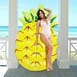 Пляжний надувний матрац - пліт Ананас 154х88х21 см, фото 2