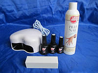 Стартовый набор для покрытия гель лаком My Nail (6 позиций) с лед лампой , топ и база 15 мл